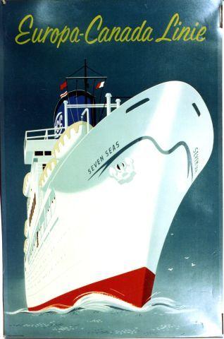 Dirksen - Europa-Canada Linie -1955 vintage poster