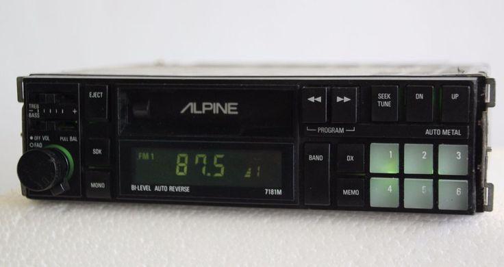Alpine 7181M Retro Old School AM/FM Cassette Tape Car Stereo Radio  #Alpine