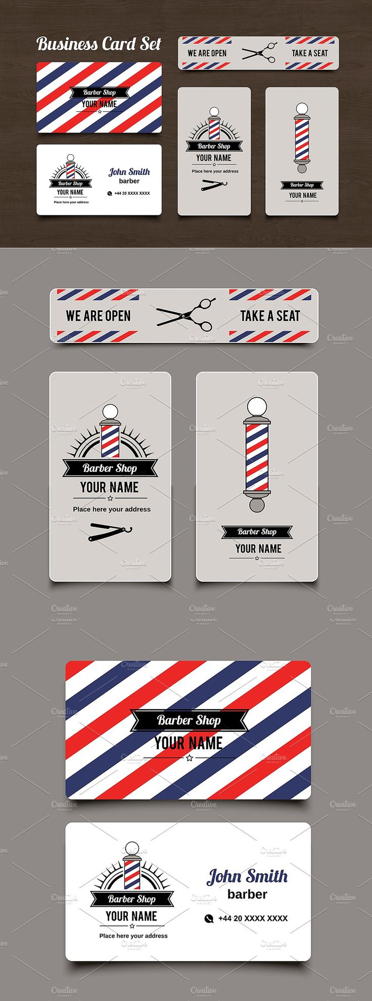 Barbershop Business Card Template | Barbershop, Card templates and ...