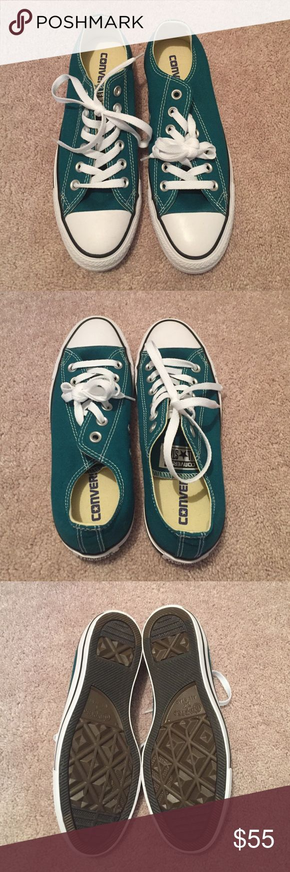 NWOT women's size 7 converse New without tags women's size 7 converse shoes. Never worn. Color is a very pretty teal Converse Shoes