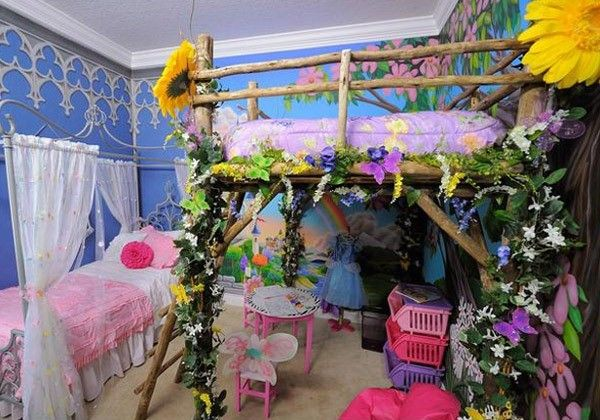 Enchanting Forest Theme Idea for Girls Bedroom