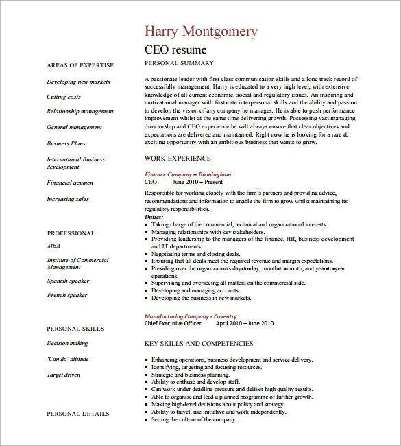 Ceo Resume Templates Lamasajasonkellyphotoco Architect Resume Sample Resume Template Resume Templates