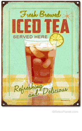 Iced Tea tin sign - just bought this for my kitchen!