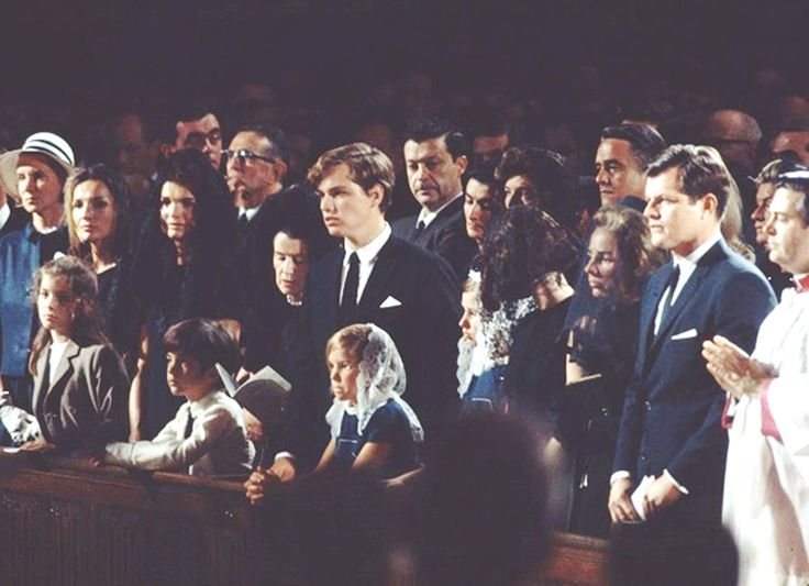 1968, The family at Bobby's funeral. Joan is right behind Ted. TED CAN YOU MOVE ok thanks .RIP❤❁❤RIP http://en.wikipedia.org/wiki/Robert_F._Kennedy   http://www.washingtonpost.com/lifestyle/45-years-after-death-recalling-robert-kennedys-funeral-train/2013/06/06/5b058d60-ca03-11e2-9f1a-1a7cdee20287_story.html