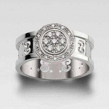 ICON TWIRL リング - GUCCI(グッチ)の婚約指輪(エンゲージメントリング)爪なしのエンゲージリング・婚約指輪を集めました!