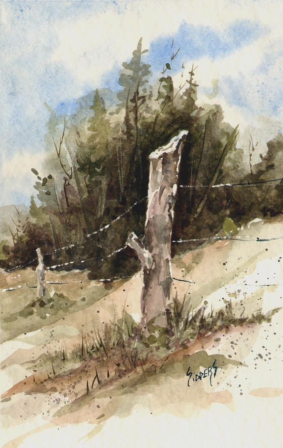 Fence Post Painting by Sam Sidders - Fence Post Fine Art Prints and Posters for Sale