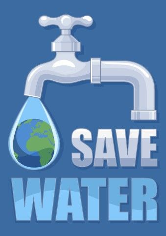 Save Water poster template