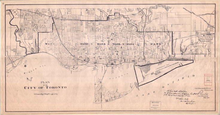 1902 Sankey Plan of the City of Toronto 'The post of City Surveyor, left vacant in 1854 by the resignation of Mr. Howard, was not filled until Dec. 24th, 1888, when Mr. [Matthew] Villiers Sankey received the appointment. Mr. Sankey was born at Brookeboro, County Fermanagh, Ireland, Oct. 3rd, 1854: educated at Portora Royal School, Enniskillen, and in 1872 passed his examinations for the India Civil Service.