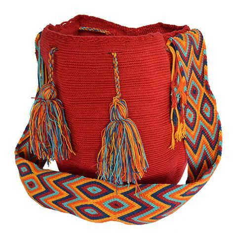 The bags are 100% handmade, using various weaving techniques and sizes. The patterns, shading, and detail vary from bag to bag depending on the weaver. A bag can take an experienced weaver up to a number of weeks  to complete while also tending to her family and duties as a mother. Each bag has a unique identifier code. All our Mochila Bags are carefully made from fine thread.