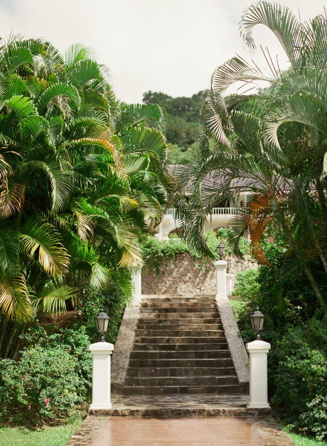 Stone Steps at Sugar Beach Hotel in St Lucia