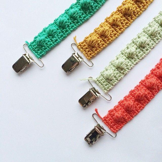 Free crochet pattern for #speenkoord #pacifierclip on blog roesthaakt.nl