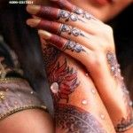 Uroosi Latest Bridal Mehndi Design 2013