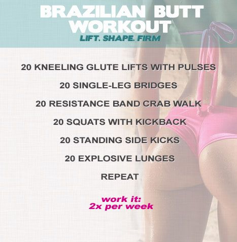 Brazilian butt-workout