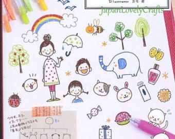 Easy & Kawaii Illustration Book  Japanese Drawing Book