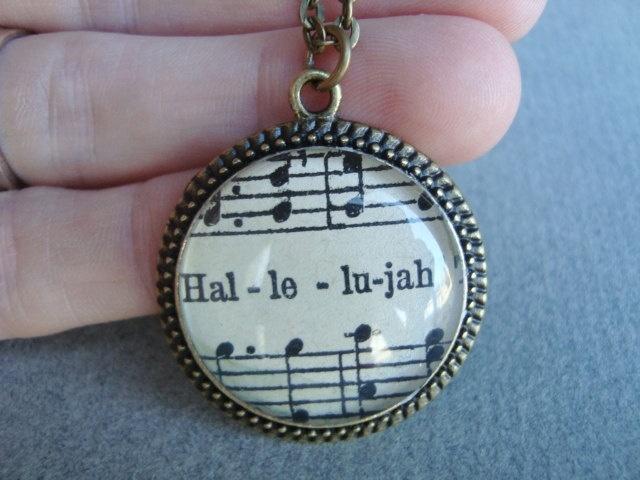 Vintage sheet music pendant, Christian jewelry, inspirational, music jewelry, praise and worship, scripture jewelry, sheet music,. $32.00, via Etsy.