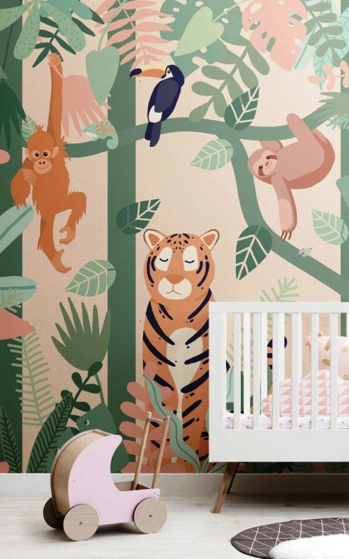 Ideas for Murals XXL – Les papiers peints des futurs enfants de la forêt vierge de la jungle …  – Wandgestaltung
