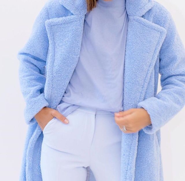 Something Navy Teddy Faux Fur Coat Something Navy Baby Blue Coat Teddy Faux Fur Coat