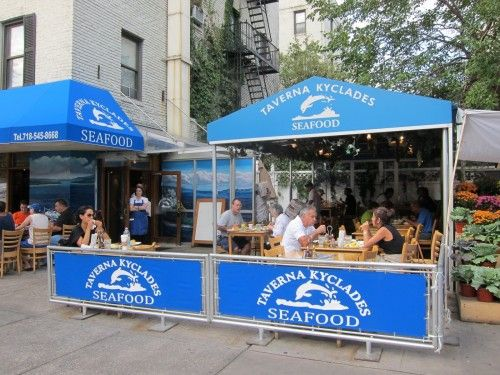 Taverna Kyclades Seafood And Kebab Sandwiches Are The Specialties At This Casual Always Astoria Queensny Restaurantssquid Dishescuber