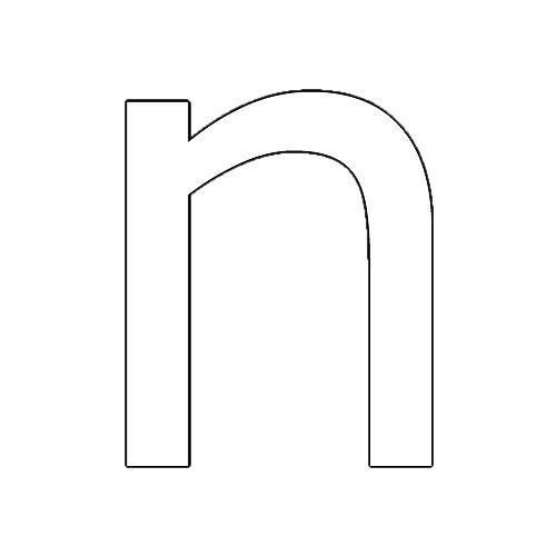 Pin De Pinpilinekin En Letra N Moldes De Letras Letras
