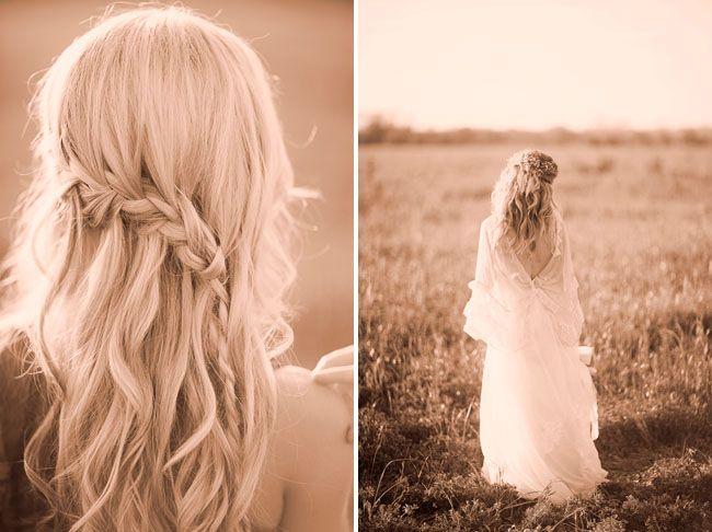 Emilyyyyy - this is kinda what you were looking at for hair?: Hair Down, Wedding Inspiration, Waterfalls Braids, Wedding Hair, Bridesmaid Hair, Bohemian Wedding, Bridal Hairstyles, Loo Braids, Braids Hair