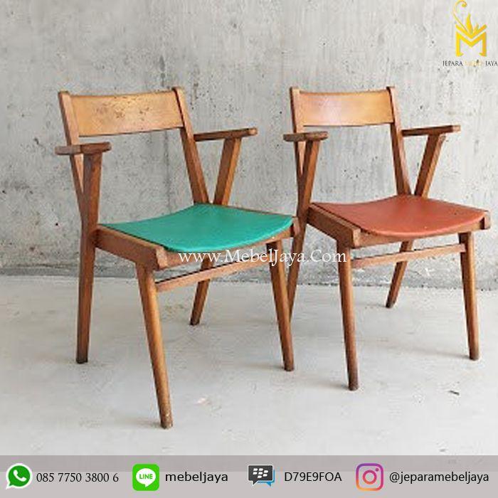 Kursi makan Desain Retro dengan dudukan lapis oscar cocok sekali untuk kursi cafe dan resto anda, material kayu jati solid terbaik Jepara - meja kursi cafe