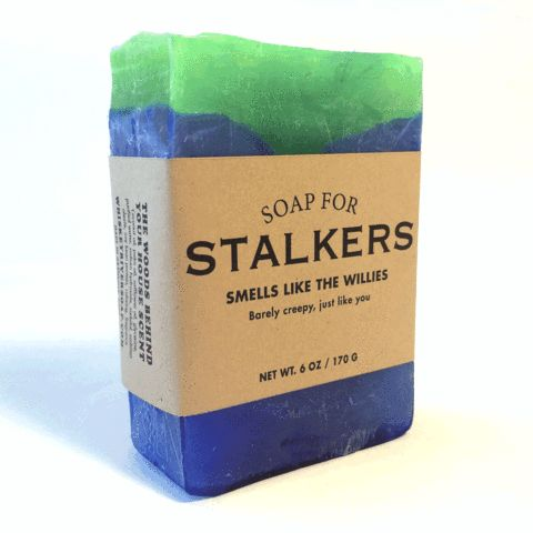 Barely creepy, just like you. Stalkers get a bad rap. It's not easy spending half the night perched on a flimsy tree limb holding up heavy binoculars in 40-degree temperatures. It's called commitment.