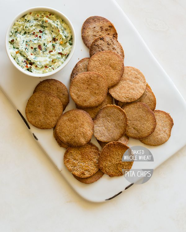 Kale Dip made w/ Greek Gods Plain Non Fat Yogurt and Baked