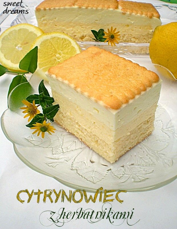 Cytrynowiec z herbatnikami.  Yum!!! Now that's what I call a piece of pie..