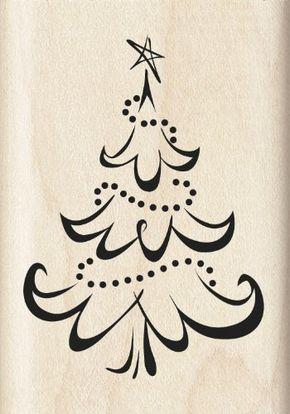 Inkadinkado Calligraphy Christmas Tree Wood Stamp:Amazon:Arts, Crafts & Sewing