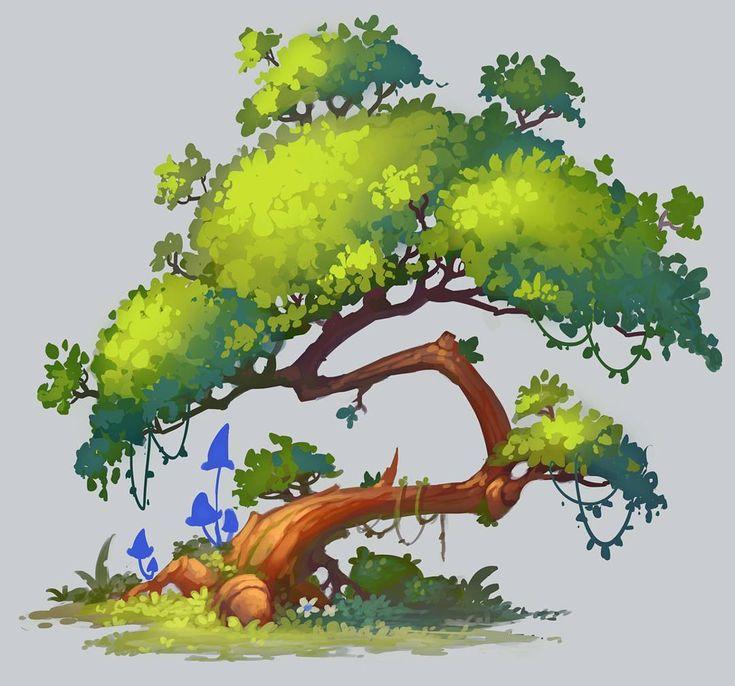 Interesting and dynamic tree design.   – Foliage Stylized