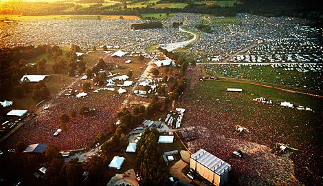 Aerial view of Bonnaroo.