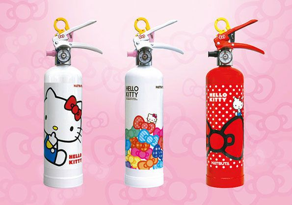 I MUST HAVE THIS NOW!!!   The Hello Kitty Fire Extinguisher Is The Cutest Fire Extinguisher