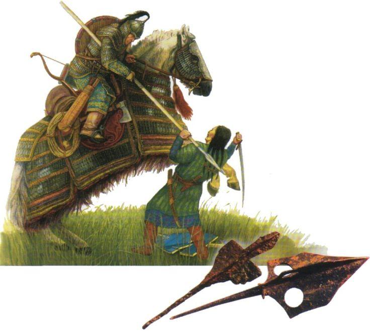 Kyrgyz Cavalryman Against Uighur