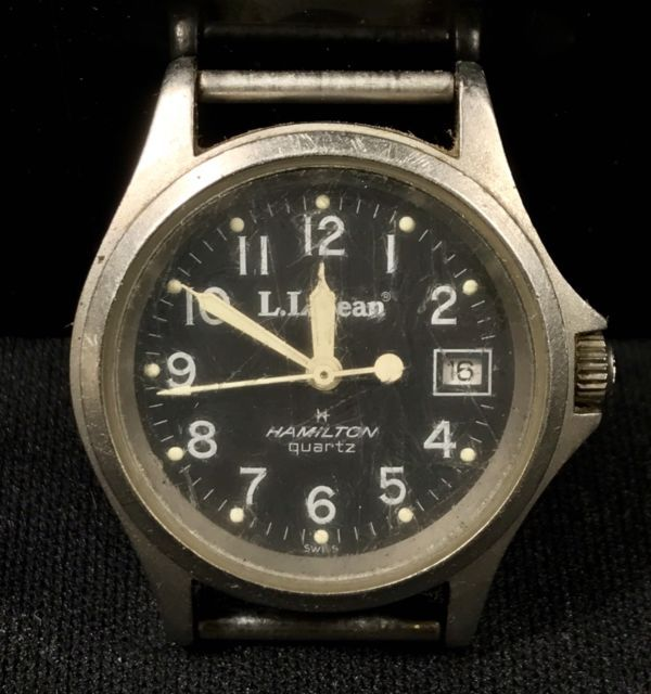 Vintage Hamilton Field Watch Wristwatch LL BEAN 9771 | eBay