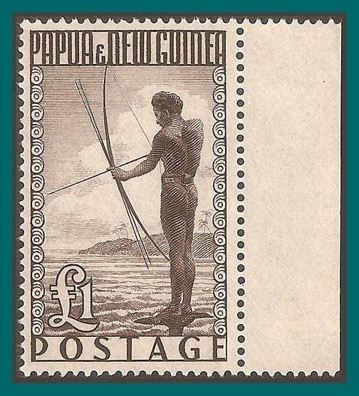 Papua New Guinea Stamps 1952 Fisherman, MNH