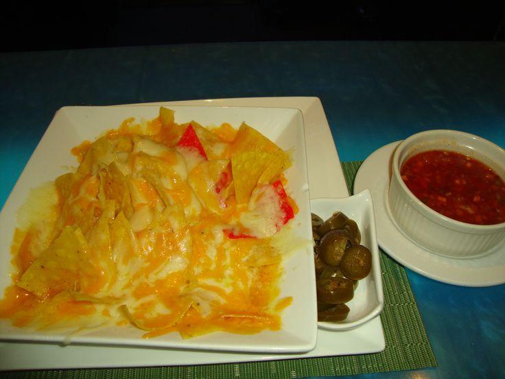 Midnight snack of nachos & salsa