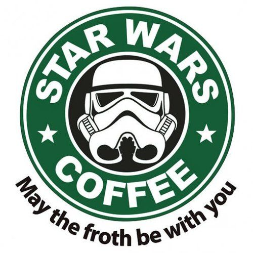 May the froth be with you: Logo, Funny Pictures, Stars War, Memorial Shops, Dark Side, Hot Chocolates, War Coff, Starswar, Starwars
