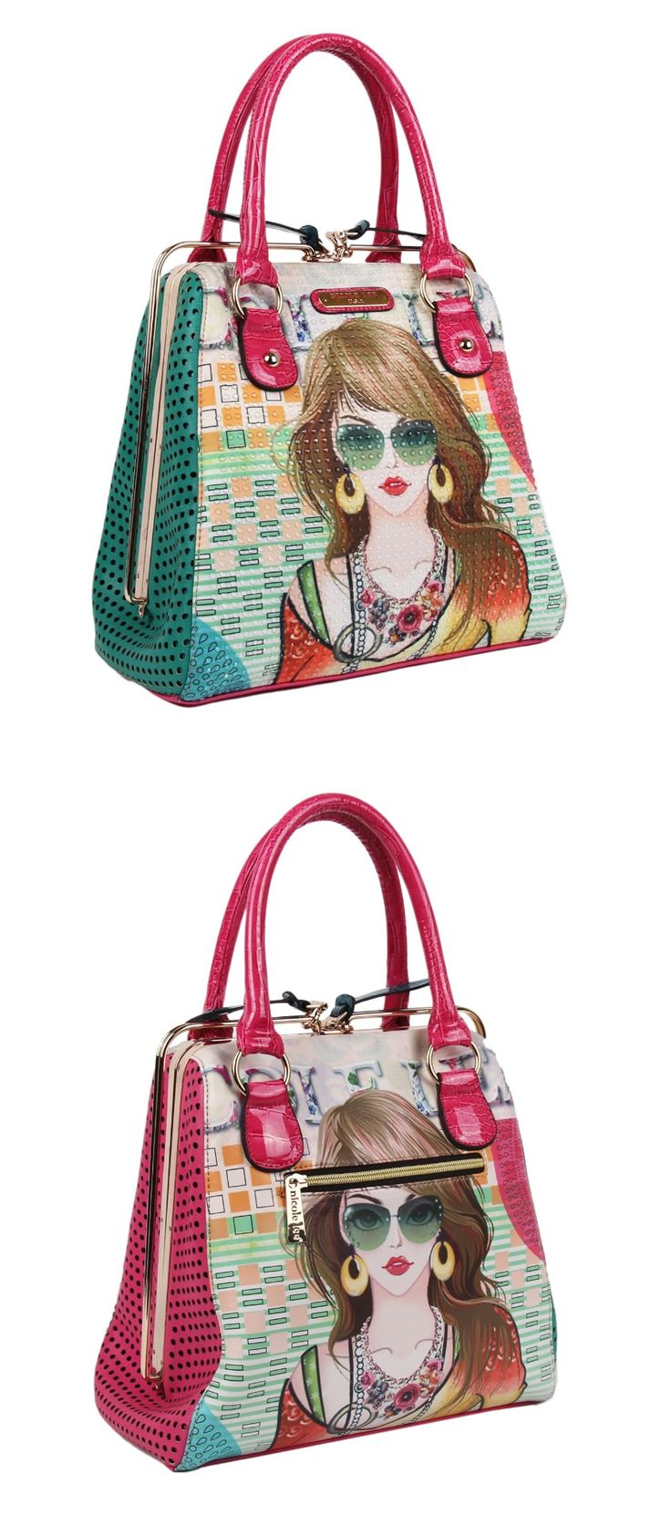 SUZY PRINT FRAME BAG by Nicole Lee #nicolelee #purse #2014