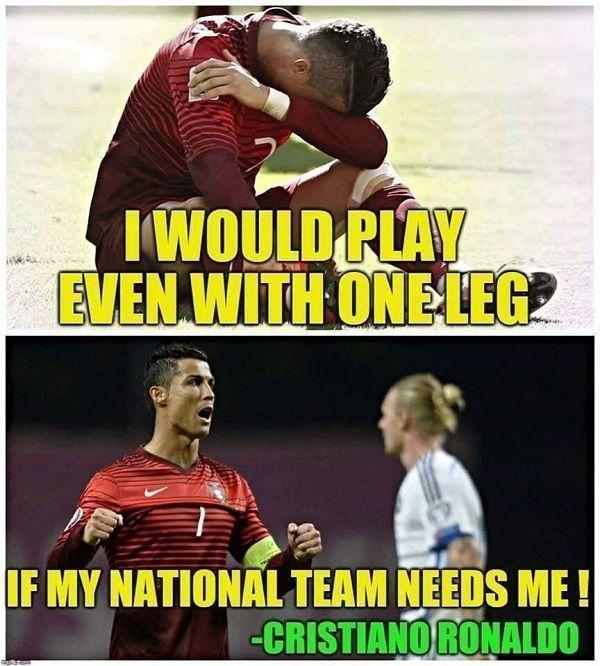 Mógłbym grać nawet z jedną nogą jeśli mój kraj będzie mnie potrzebował • Cristiano Ronaldo zrobi wiele dla drużyny narodowej >> #ronaldo #cristianoronaldo #portugal #football #soccer #sports #pilkanozna