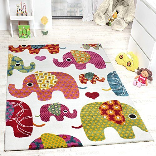Kids' Rug - Elephant Design Multicoloured Creme Grey Pink, Size:80x150 cm Paco Home http://www.amazon.co.uk/dp/B015P9DIB8/ref=cm_sw_r_pi_dp_pEVAwb08N3X7N