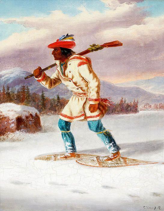 Cacciatore Indiano con Racchette da Neve XIII.