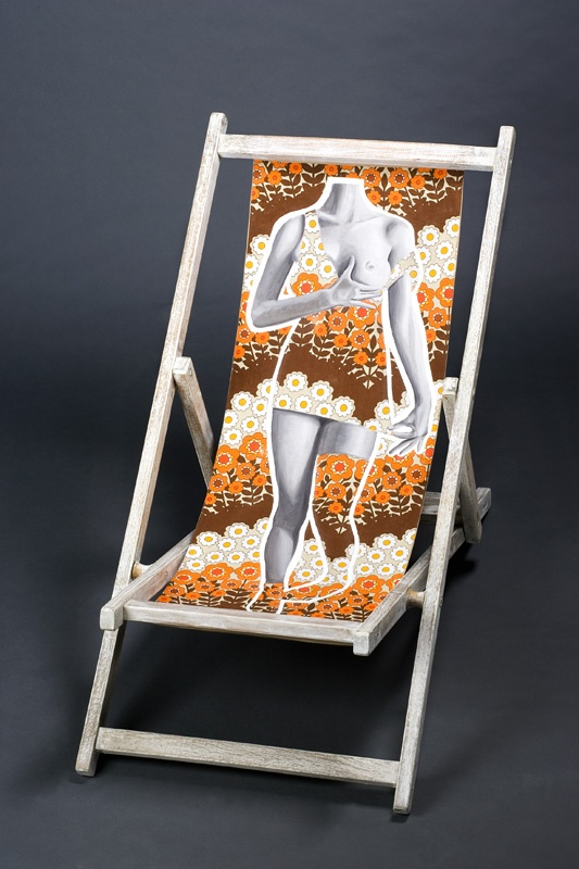 Original deck chairs created by 16 different artists for the International Vulcanology Music and Art Festival in Italy.