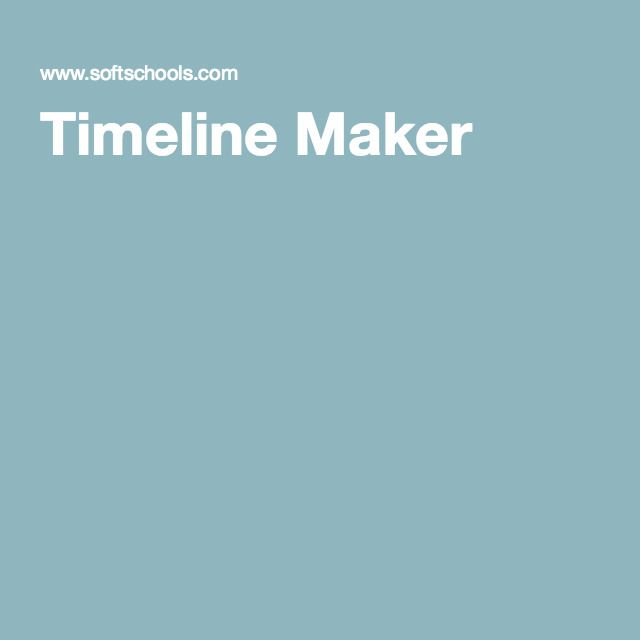 Timeline Maker - Kids can make a timeline with up to 12 events