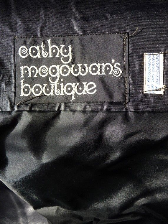 Cathy McGowan's Boutique Label in Mid-1960s Black Mini Mac