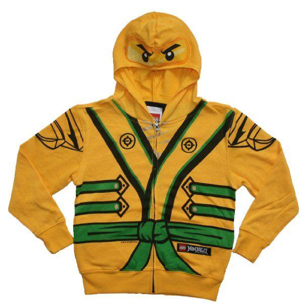 lego ninjago boys 4 7 gold ninja costume hoodieamazonclothing