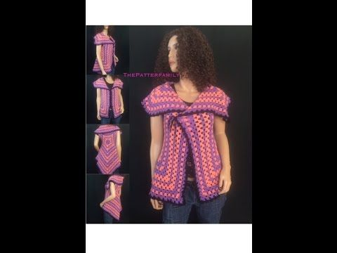 How to Crochet Open Front Sweater Pattern #20│by ThePatterfamily - YouTube