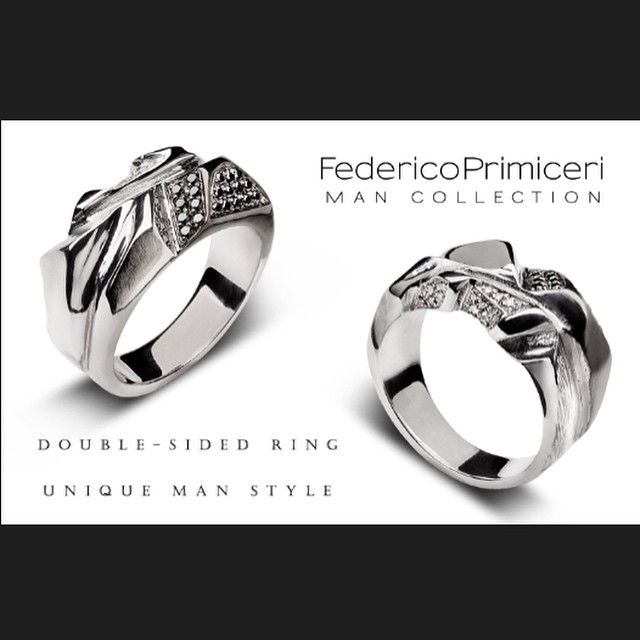 Feeling like a stylish and unique Man with double-sided ring with black & white diamonds by Federico Primiceri @federicoprimiceri fine jewellery Man Collection. Exclusive Man Collection at LUISAVIAROMA @luisaviaroma #federicoprimiceri #mencollection #menswear #finejewellery #luxury #accessory #Italy #madeinitaly #handmade #ring #black #white #diamonds #style #menstyle #lecce #florence #milan #luisaviaroma #loveit