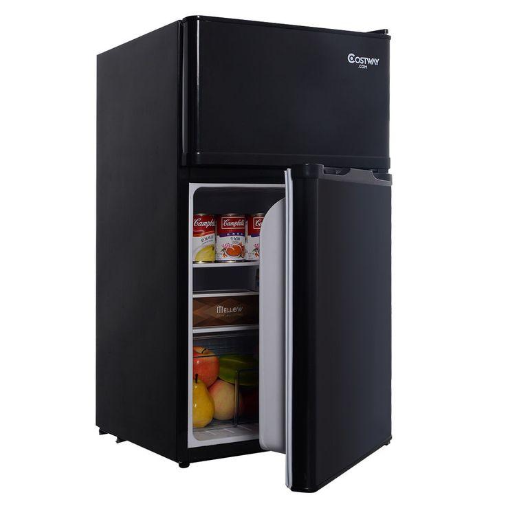 2 Door 3.4 Cu. Ft Compact Refrigerator Freezer CFC Free Furniture Home - Kitchen & Dining - Home & Garden