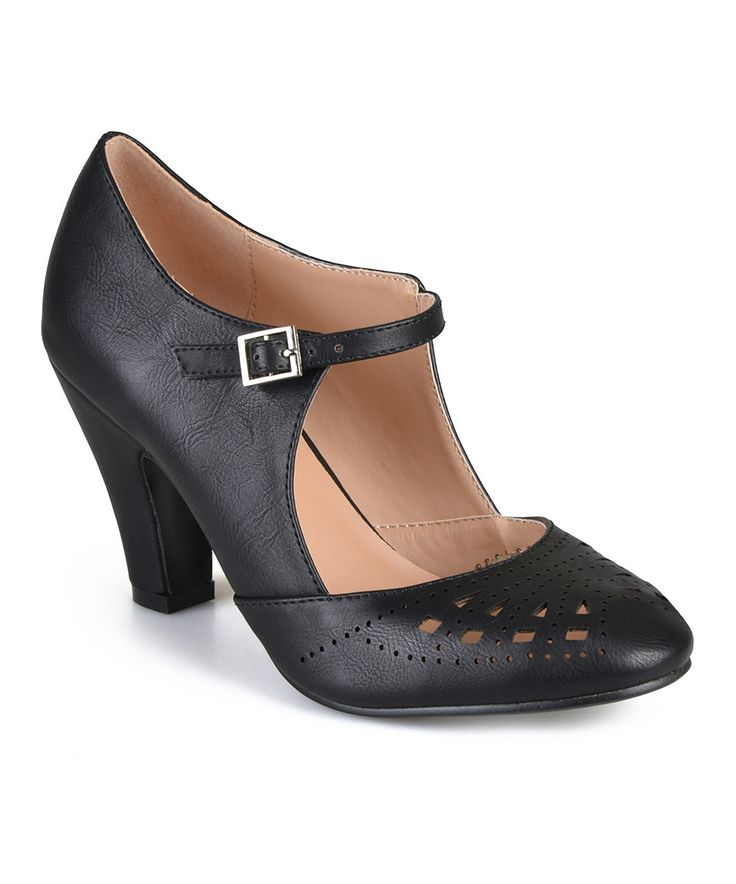 Look what I found on #zulily! Journee Collection Black Elsa Buckle Pump by Journee Collection #zulilyfinds