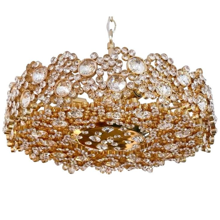 Austrian Chandelier By Lobmeyr Large Individual Jewels And Hundreds Of Crystals Intricately